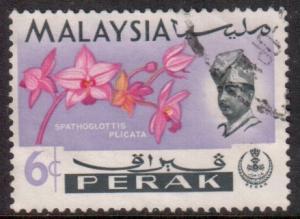 Malaya Perak Scott 142 - SG166, 1965 Flowers 6c used