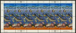 United Nations - Vienna 128a Sheet MNH Seals, Dolphin, Fish, Shells, Crab