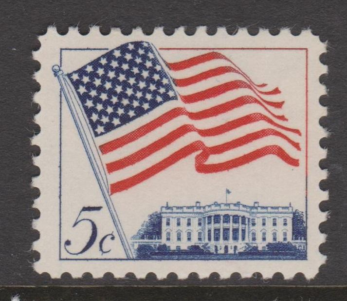 USA 1961-1966 Regular Issues and Coils Sc#1208 1209 1213 1225 and 1229 Mint