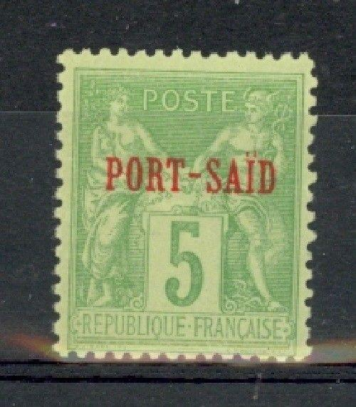 French Offices in Port Said Scott 5a Mint NH (Maury CV 115 Euros)