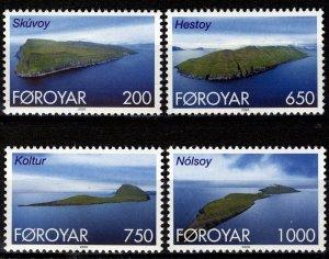 Faroe Islands -2000- Islands type  MNH set # 383-386