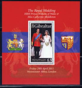 Gibraltar 1283 MNH 2011 Prince William Wedding S/S