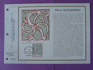paintings Pierre Alechinsky modern art FDC folder CEF 790-1985