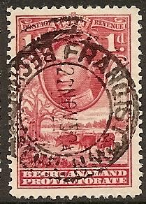 Bechuanaland Prot. 125 Used 1938 1p rose car KGVI Defin.
