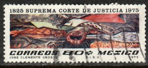 MEXICO 1142 Sesquicentennial Supreme Court; Mural by Orozco Used VF (796)