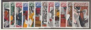 Liechtenstein Scott #787-798 Stamps - Mint NH Set