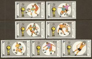 Mongolia #1838-44 NH World Cup Soccer - Italy