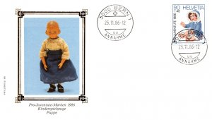 Switzerland, Worldwide First Day Cover, Toys