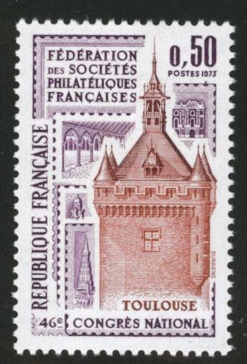 France Scott 1378  MNH** Toulouse Tower stamp 1973