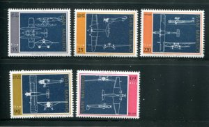 San Marino MNH 814-8 Diagrams Of Aircraft