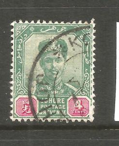 JOHORE  1896-99  4c  SULTAN  FU  SG 42
