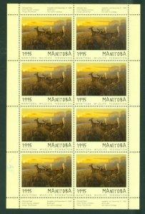 MANITOBA 1995 DEER CONSERVATION  #MWF2f  SHEET of 8 MNH...$150.00