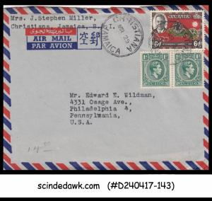 JAMAICA - 1962 AIR MAIL envelope to U.S.A. with KGVI SCOUTS Stamps