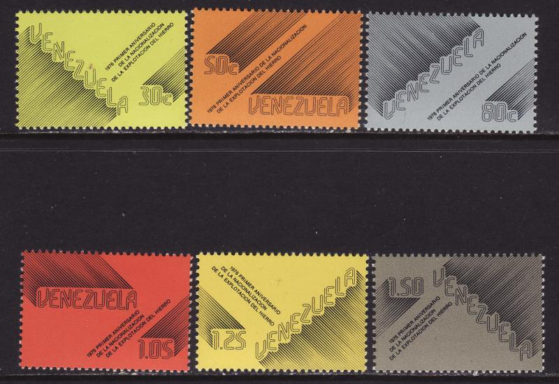 Venezuela MNH 1169-74 Iron Industry Nationalization 1st Anniversary