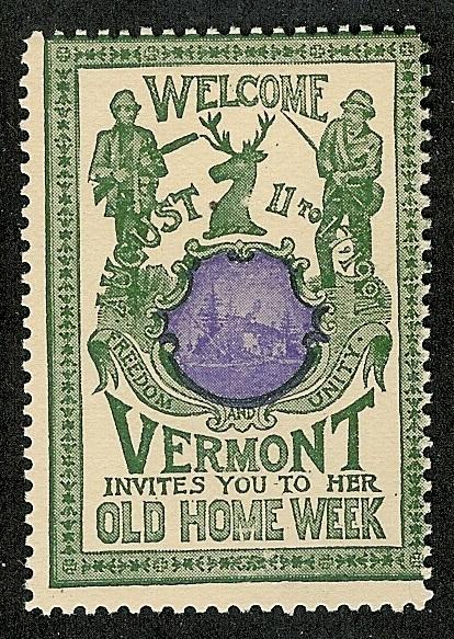 US 1901 Vermont Old Home Week Poster Stamp (G-V-W)