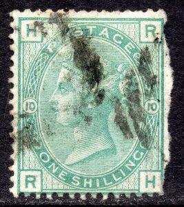 1874 Sg 150 1s Grün 'Rechts' Platte 10 Mit Duplex Stornierung