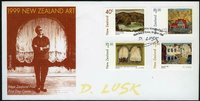 New Zealand 1597-1600,FDC. Paintings 1999.By Doris Lusk.