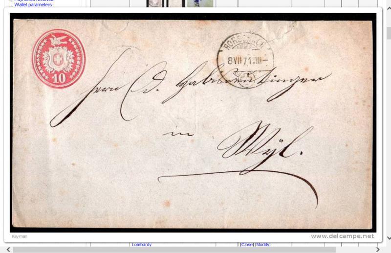 Schweiz 1871 Embossed 10 Rappen Rot Auf Brief Hipstamp