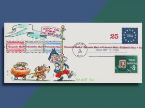 Ben Franklin & His Dog Deliver Mail on a Philatelic Mail Envelope Combo FDC