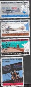 Comoro Islands 1987 Set of 4 airmail stamps.  Aircraft  Planes