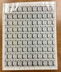 Vintage Cinderella Photostamp Stamp sheet of 90 With Picture of Young man