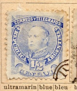 Argentina 1888-90 Early Issue Fine Used 1/2c. NW-11774