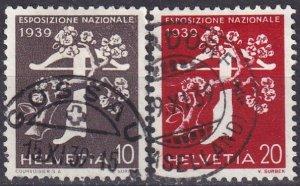 Switzerland #257-8 F-VF Used CV $17.75  (Z4593)