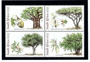South Africa 1078a MNH 1998 Trees block of 4     (KA)