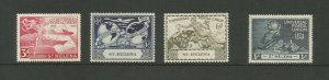 St Helena 1949 75th Anniversary Of UPU Mounted Mint SG 145/8