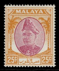 MALAYSIA - Selangor GVI SG103, 25c purple & orange, M MINT.