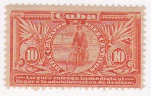 Cuba Special Delivery Stamp SC #E3 Inmediata 1902 MLH OG.