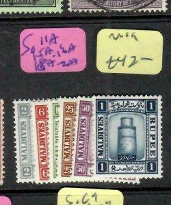 MALDIVE ISLANDS  (P1405B)   SG  11a, 15a, 16a, 18a-20a   mog