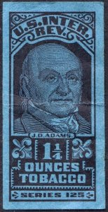 TF1109 Series 125: 1½ Ounces Tobacco Tax Stamp (1955) Used