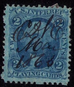 US Sc R11 Used 2c Playing Cards F-VF