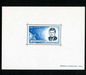 Monaco Rare Kennedy Souvenir Stamp Sheet SC 596 XF OG NH