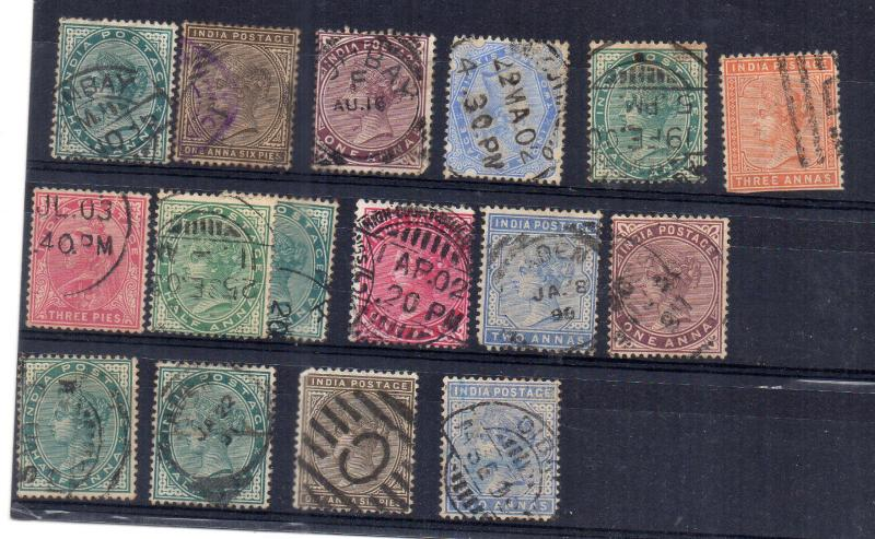 India/ qv 1882 to 1900 fine hcv lot
