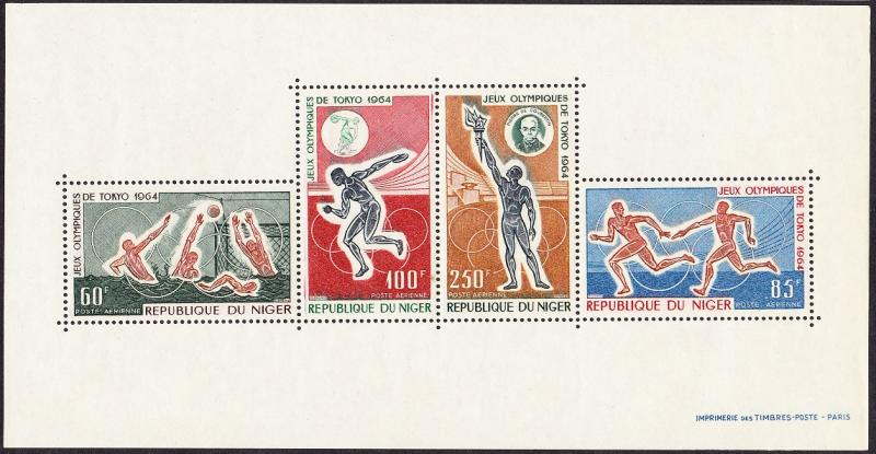 Niger Summer Olympic Games Tokyo 1964 MS SG#MS183a MI#Block 3