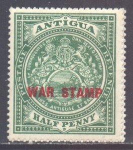 Antigua Scott MR2 - SG53, 1916 War Stamp 1/2d (Red) MNH**