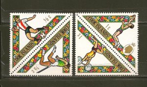Cook Islands 254-255 & 256-257 Sports Setenet Triangle Pairs Mint Hinged