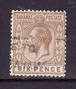 Bahamas-Sc#79-used 6p bister brown KGV-id2-1922-