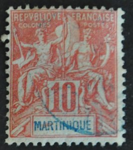 DYNAMITE Stamps: Martinique Scott #39 – USED