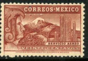 MEXICO C68, 20c EAGLEMAN. MINT, NH. VF.