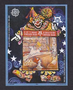 Albania MNH S/S 2763 Europa Circus Clown 2005 SCV 16.00