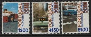 PORTUGAL, 1144-1146, (3) SET,  HINGED, 1972, Trucks