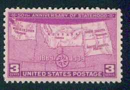 USA Scott 858 MNH** 1939 stamp Statehood
