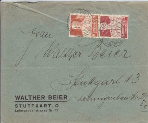 1935, Triberg to Stuttgart, Germany, Mi  #560//561 (5227), Vertical Pair (32221)