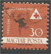 HUNGARY, 1961, used 30f, Health Information, Red Cross Scott 1366