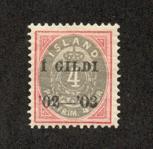 Iceland - Sc# 51 MH / Signed        -         Lot 0520205