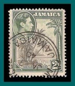 Jamaica 1938 2d Coco Palms, used  119,SG124