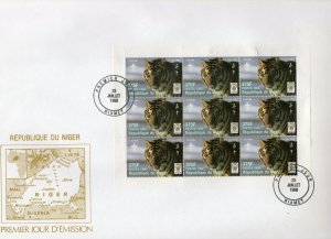 Niger 1998 Sc#1002 Year of the Tiger Chinese New Year Sheetlet (9) Official FDC